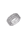 "Bague ""PREMIER JOUR"" or blanc 3 rangs, diamants"