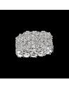 """BAGUE """"Je le Veux"""" 5 rangs, or blanc et diamants"""