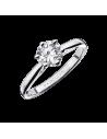 Bague SIX DE TOI or gris, diamant 0,50ct serti 6 griffes