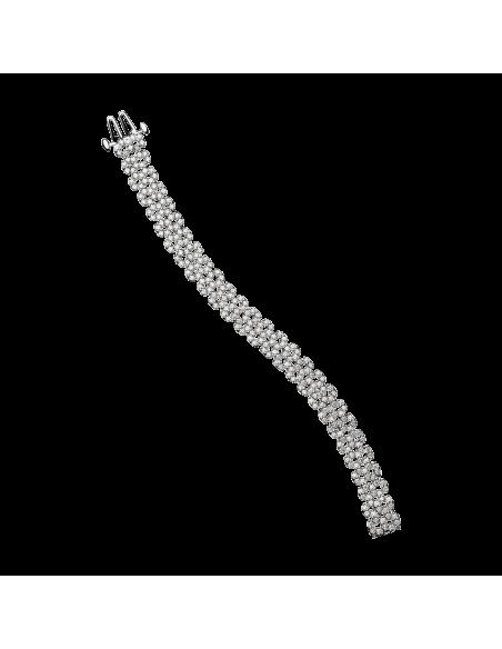 BRACELET Je le Veux 5 rangs, or blanc et diamants 8,1 cts